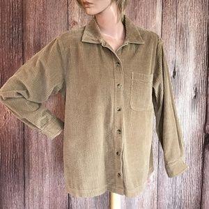 L.L. Bean Vintage Corduroy Shirt Jacket SP